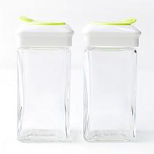 글라스 사각미니 소금&후추통 2조세트(110ml)