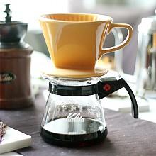 커피 드립퍼(옐로우)