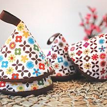 브라운잔꽃 고깔주방장갑