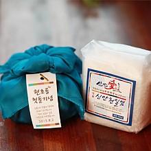 보자기 비닐팩 천일염/함초