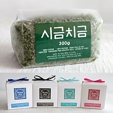 고급리본비닐팩 맛담 시금치소금300g