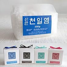 고급리본비닐팩 맛담 천일염300g