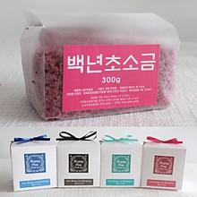 고급리본비닐팩 맛담 복분자소금300g
