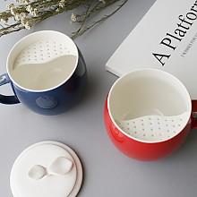 애플 티 머그 2p (컵+뚜껑)