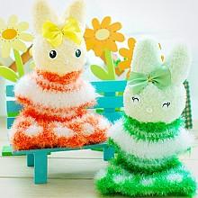 극세사 드레스입은 토끼
