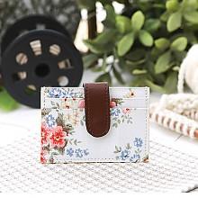 꽃 가로형 카드지갑(흰색)*고객감동*